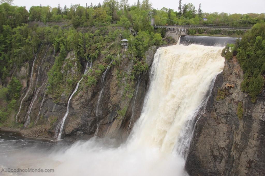 Voyage Auboodhoomonde - chutes de Montmorency
