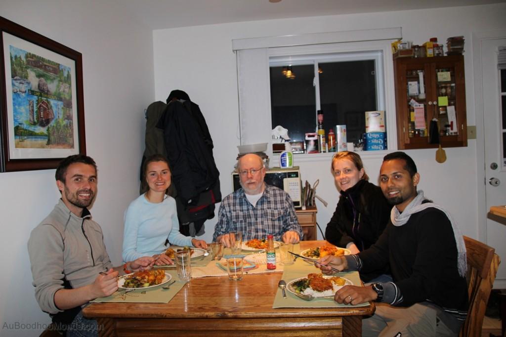 Repas Couchsurfing à Québec