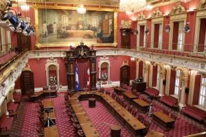 parlement Québec rouge