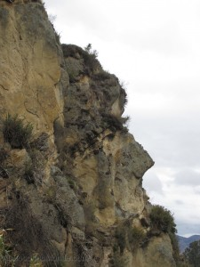 Equateur - Visage Inca pierre