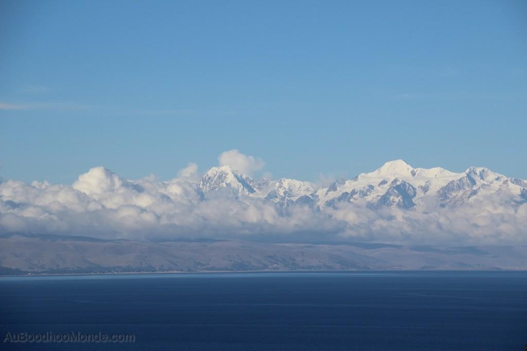 Bolivie - Cordillere depuis Isla del Sol