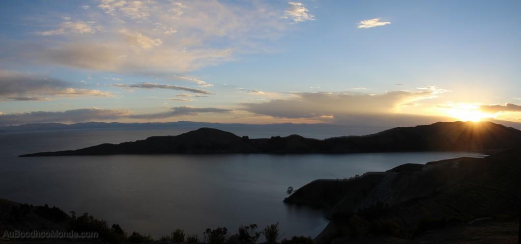 Bolivie - Isla del Sol soleil couchant