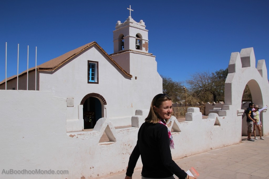 Chili - Eglise blanche de San Pedro de Atacama