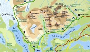 Chili - Torres del Paine - Carte Trek W