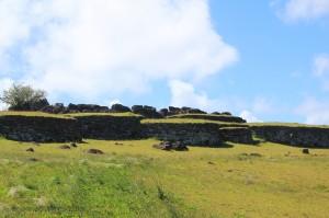 Ile de Paques - Maisons Orongo