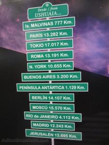 Argentine - Ushuaia - distances