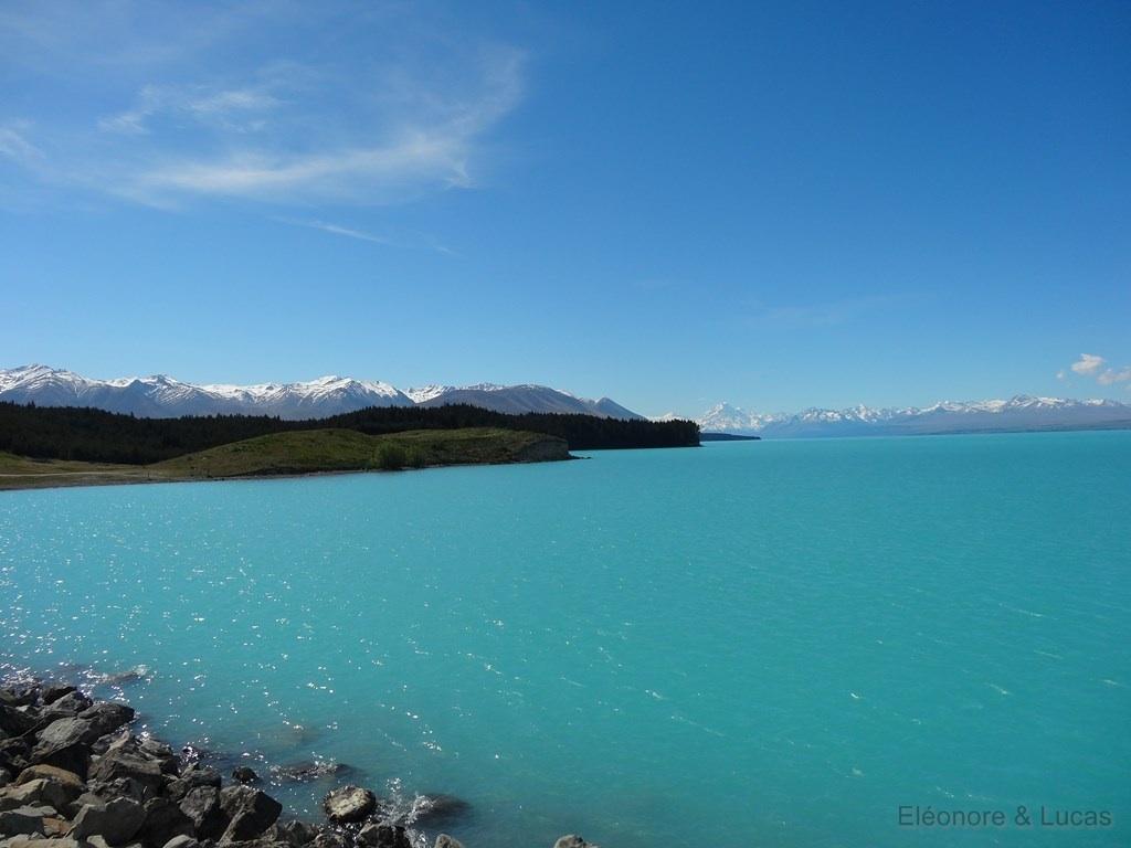 Nouvelle-Zelande Lac Pukaki beau temps