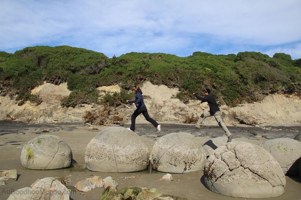 Nouvelle-Zelande - Moeraki Boulders - Ile du Sud