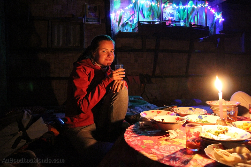 Myanmar - diner aux chandelles