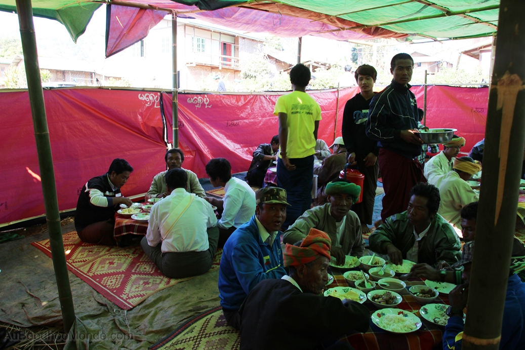 Myanmar - repas mariage