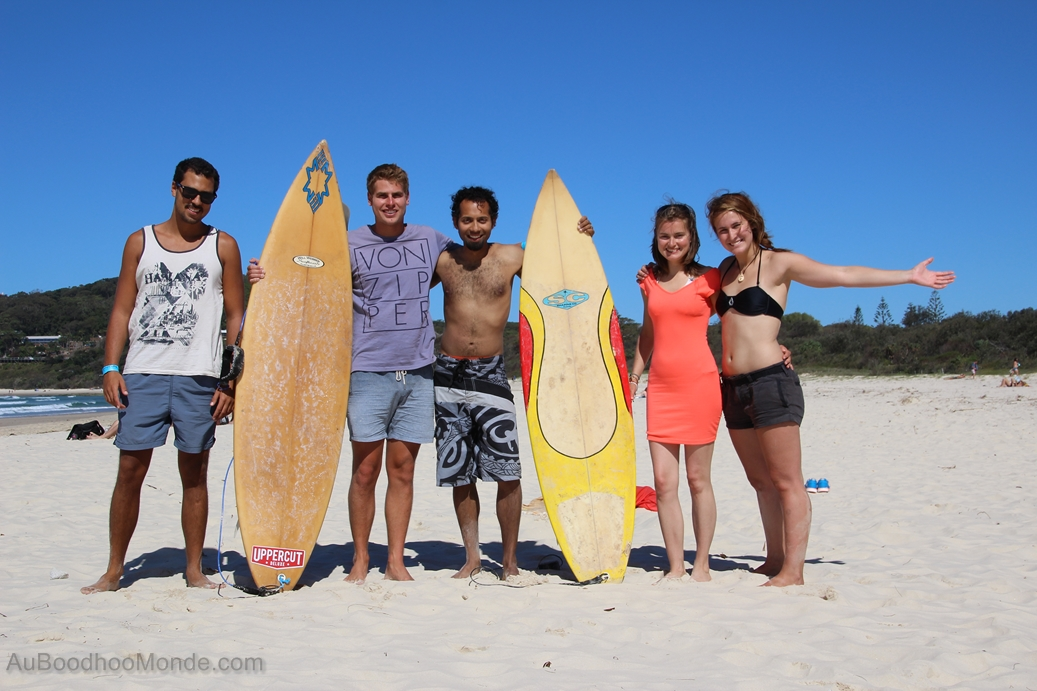 Surfing with Quebec in Byron Bay