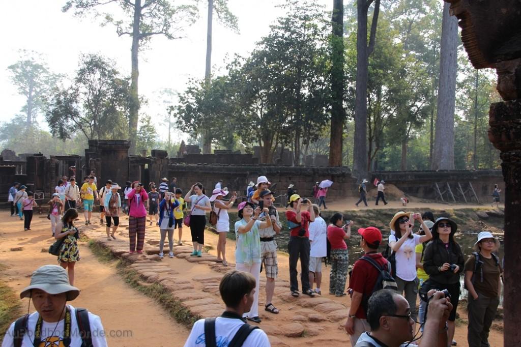 Cambodge - Angkor Banteay Srei Foule