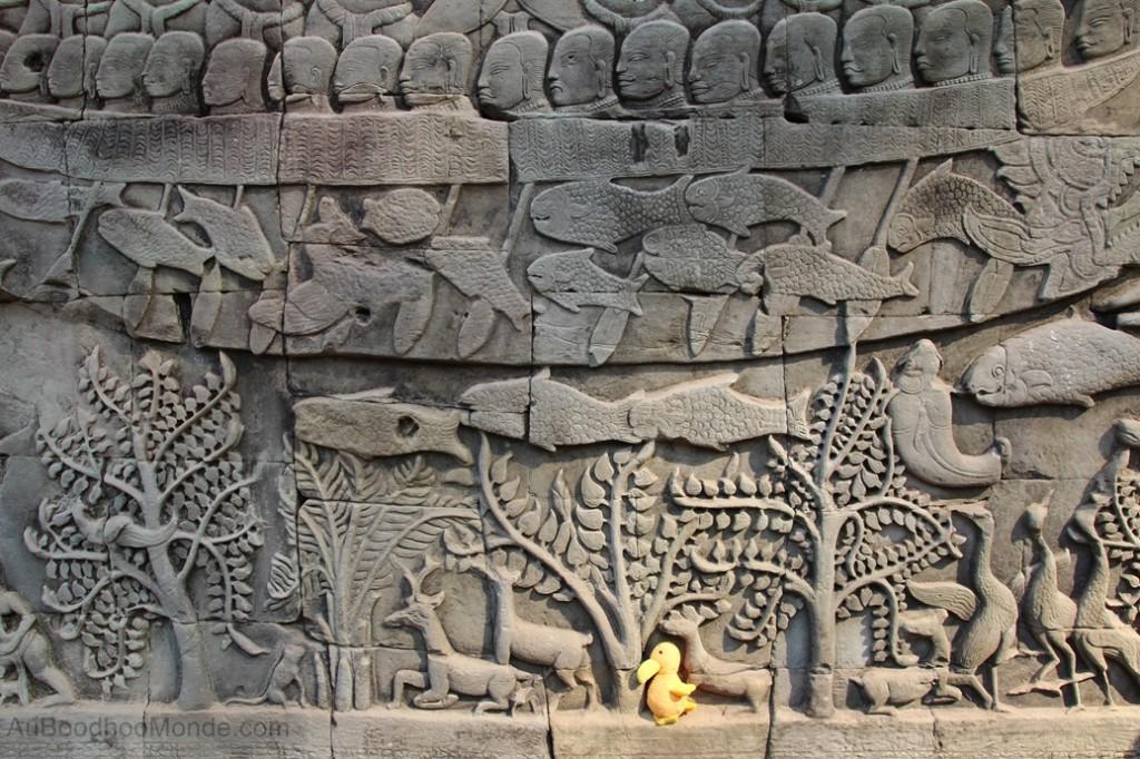 Cambodge - Angkor Bayon Bas-relief