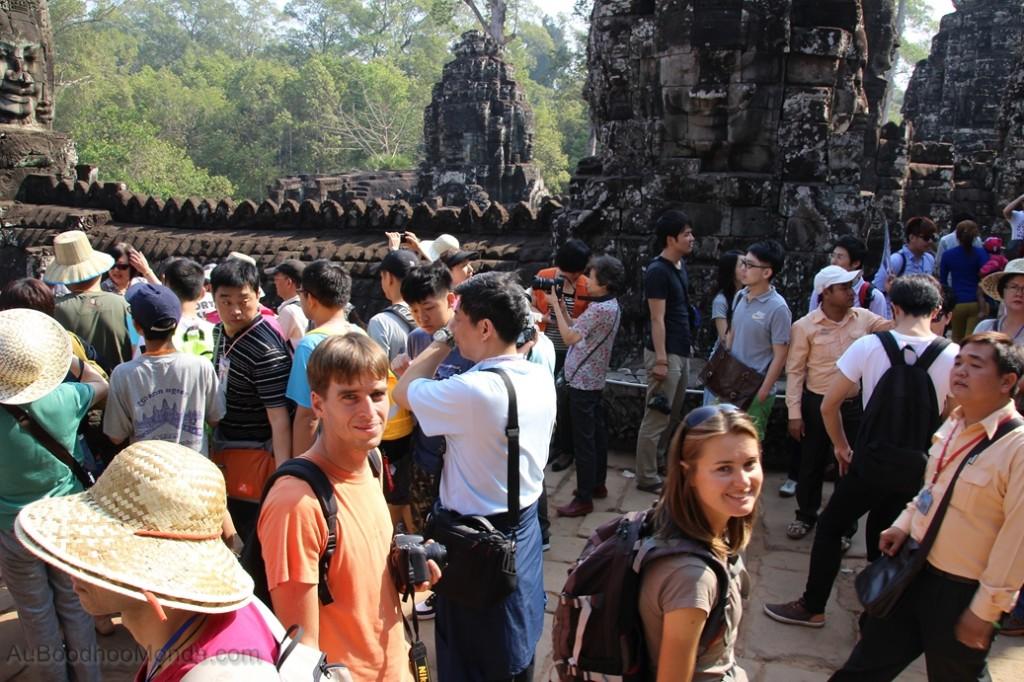 Cambodge - Angkor Bayon foule