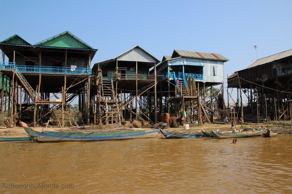 Cambodge - Angkor Kampong Phluk pilotis