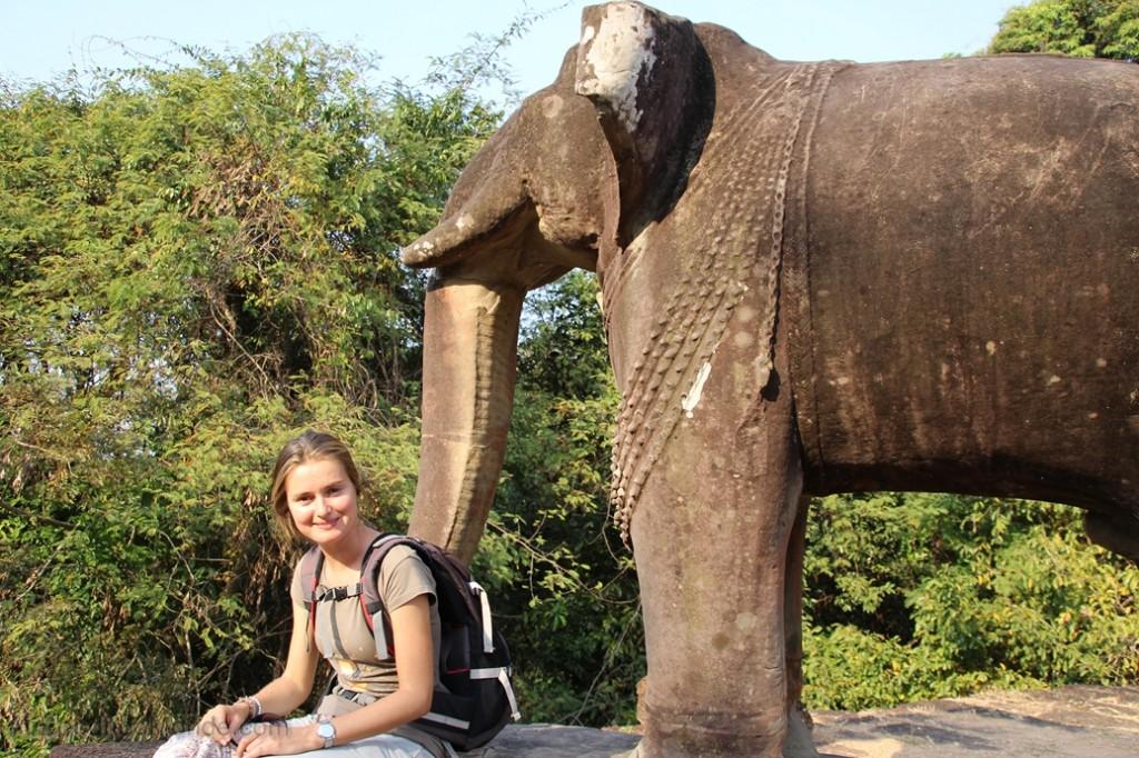 Cambodge - Angkor Mebon Oriental elephants