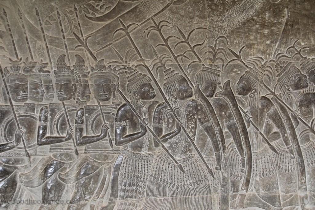 Cambodge - Angkor Wat bas-relief