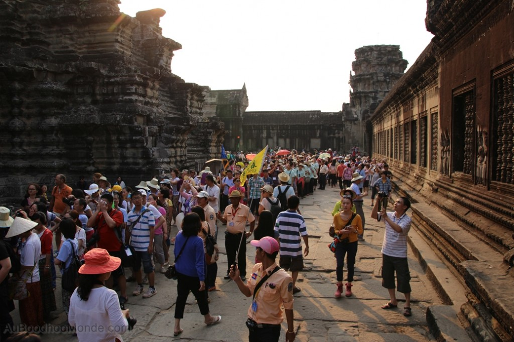 Cambodge - Angkor Wat foule