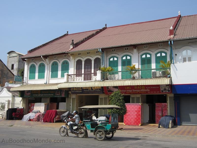 Cambodge - Battambang - Maisons coloniales