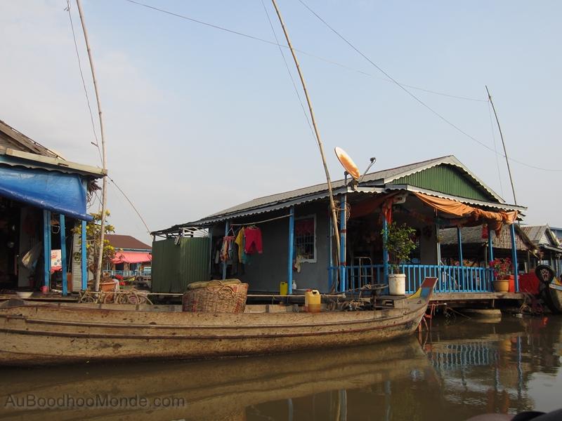 Cambodge - Kompong Chhnang Village flottant