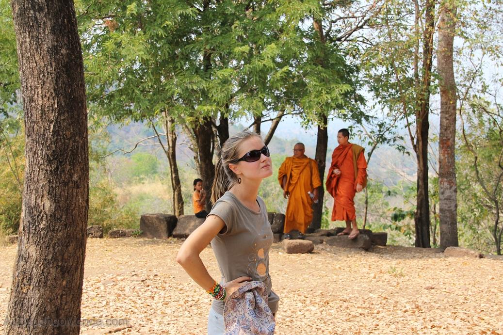 Cambodge - Phnom Banan - Bonzes