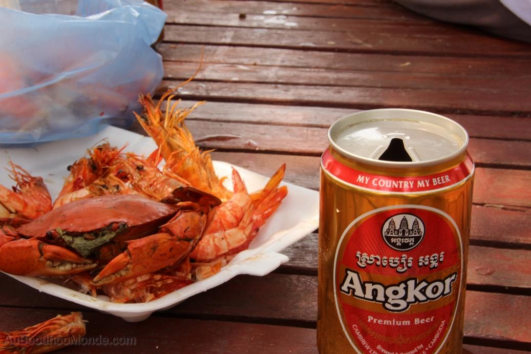 Cambodge - Crabe et biere