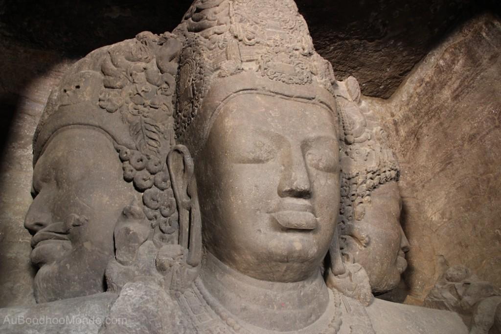 Inde - grottes sculpture Shiva