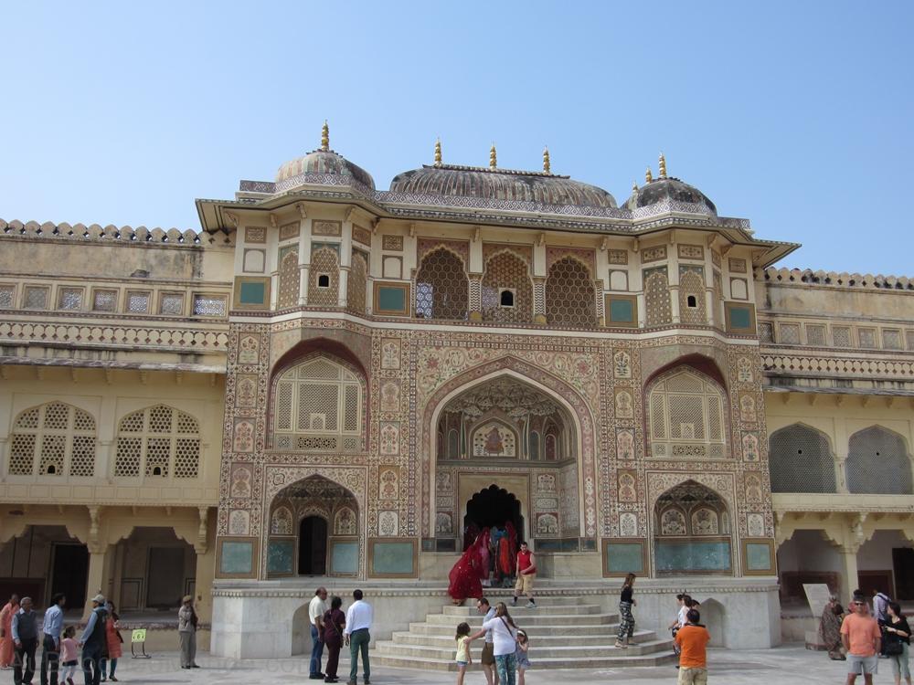 Inde - Rajasthan - Ambert Fort - Porte