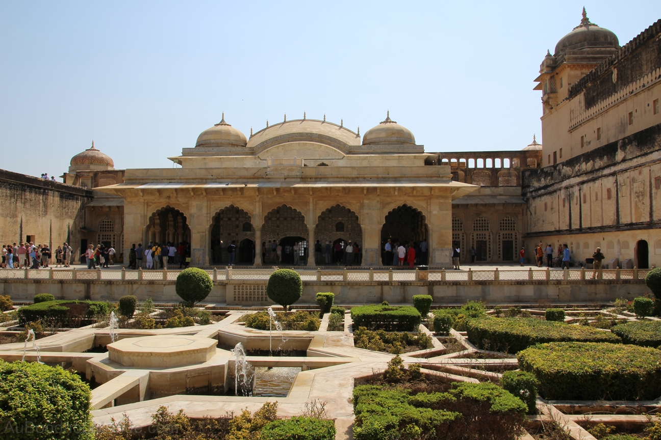 Inde - Rajasthan - Ambert Fort - Cour