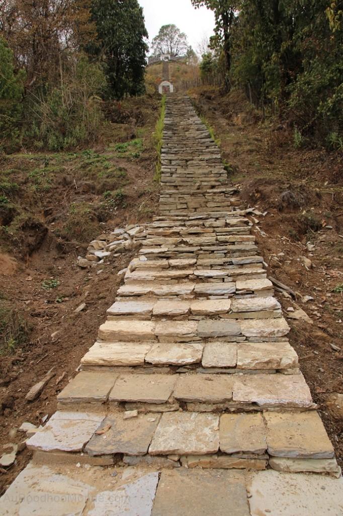 Escalier temple Gandruk