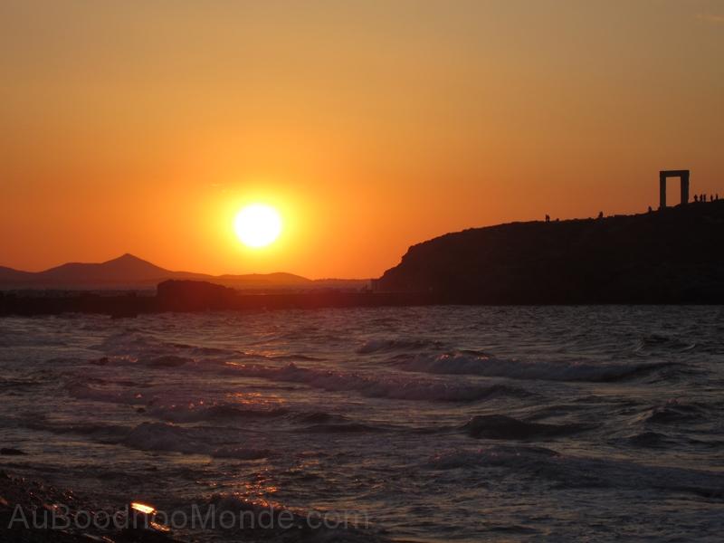 Grece - Naxos - coucher soleil