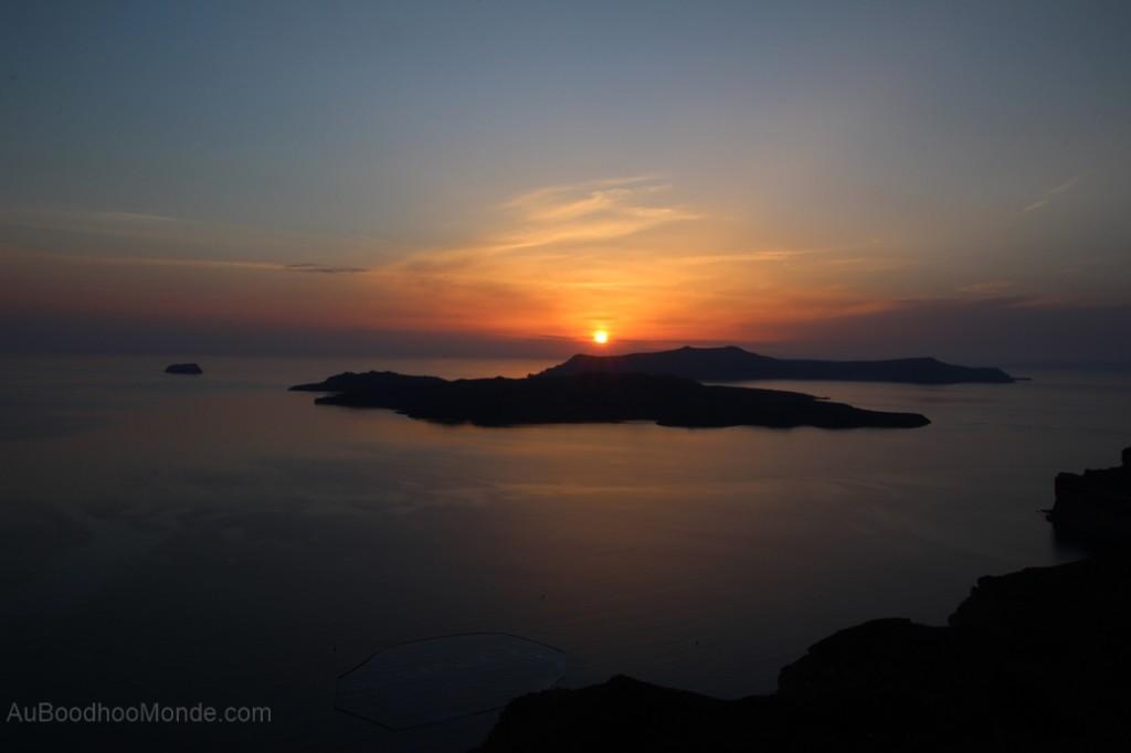 Santorin - Coucher de soleil caldeira