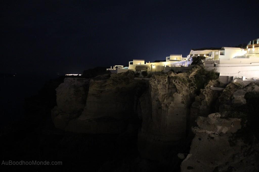 Santorin - corniche nuit