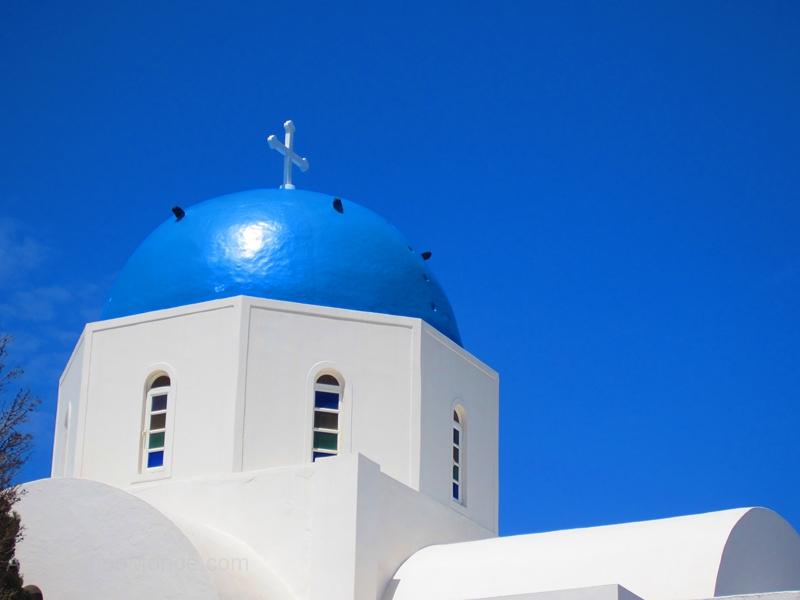 Santorin toit bleu