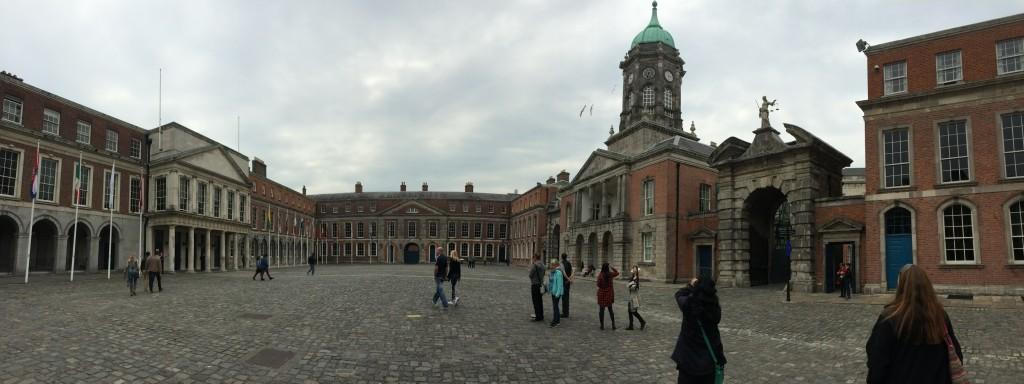Dublin castle pano